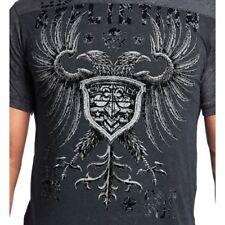 Affliction Men's Agitator Short Sleeve T-Shirt Black Lava A10644