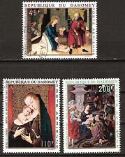 DAHOMEY # C110-2 Used CHRISTMAS 1969 FAMOUS ART