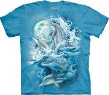 The Mountain Unisex Adult Bergsma Dolphins Aquatic T Shirt