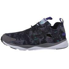 Reebok Mens Furylite Soc Sneakers Grey Black Low-Cut Ultralight Running Sho