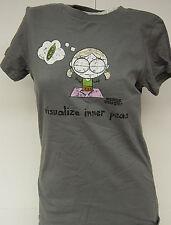NEW Womens Juniors DAVID & GOLIATH Visualize Inner Peas Gray T-Shirt