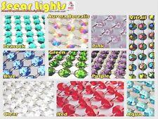 Lustre gouttes perles cristaux de verre taillé gouttes 1M garland vintage chic couleur