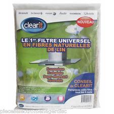 Filtre de hotte naturel recyclable en fibre de lin 47x57 cm Filtre CLEARIT