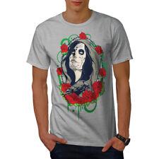Chica Rosa cara Horror Camiseta Para Hombres Nuevo | wellcoda