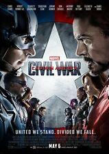 Captain America Civil War Movie Poster Film Photo Print Picture