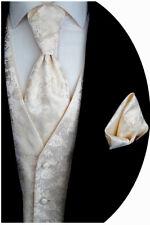 Hochzeitsweste Plastron Einstecktuch, Krawatte, Ivory, Nr 16.5 Gr 44-62 & 90-114