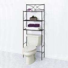 3 Shelf Over The Toilet Bathroom Space Saver Towel Storage Rack Organizer