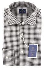 New $600 Luigi Borrelli Brown Shirt - Extra Slim - (EV06RC08860)