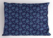 Cartoon Turtle Pillow Sham Decorative Pillowcase 3 Sizes Bedroom Decor Ambesonne