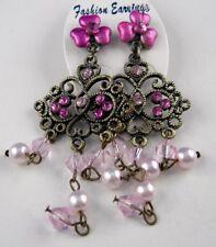 Ohrringe lange Ohrstecker Orientalische Blüten und Ornamente mit Perlen