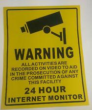Warning CCTV Camera - Security Camera Stickers Signs Decals - CCTV Recording