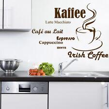 Wandtattoo Küche Tasse Espresso Kaffee Cappuccino Mocca +7 gr1+