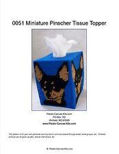 Miniature Pinscher Dog Tissue Topper-Plastic Canvas Pattern or Kit