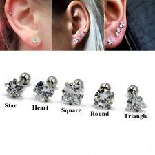 Zircon Cartilage Earring Stud Ear Tragus Helix Stud Upper Ear Piercing Jewelry