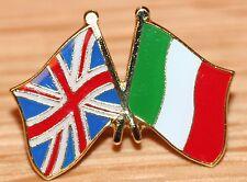 UK & ITALY Italian FRIENDSHIP Flag Metal Lapel Pin Badge Great Britain