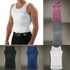 Men's Slimming Body Sharper Girdle Black or White T-shirt Slim N Lift Fit Vest