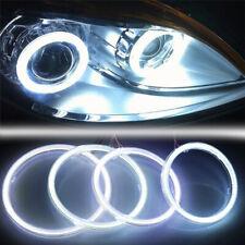White COB SMD Angel Eyes Car LED Fog Light Ring DRL Headlight Lamp Decoration MC
