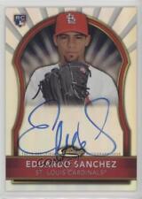 2011 Topps Finest #99 Eduardo Sanchez St. Louis Cardinals Auto Baseball Card