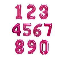 102cm Tas Chiffres Ballon Plat pour Fête D'Anniversaire Décorations Rose 0 To 9