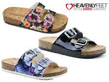 d9f14a37f475 Ladies Summer Comfort Sandal Buckle Slider Stylish Open Toe Lightweight  Mules