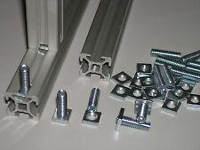 Tuerca m6 + lápiz de rosca m6x20 para perfil de aluminio Nut 6, tuerca m6: 10x10x2,5