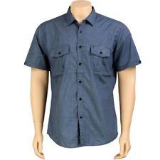 $52 KR3W Quincy Short Sleeve Premium Shirt (blue) K15204BLU