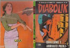 \ DIABOLIK ORIGINALE -ANNO XVI-16°  # 12 - 1977 ///