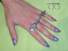 anello doppio dito ARTIGIANALE PL ARGENTO ANTICO made in italy