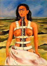 Frida Kahlo broken column print canvas giclee 8X12&12X17 art poster reproduction