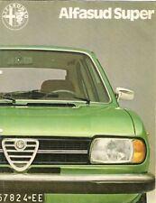 Alfa Romeo Alfasud Super 1979-80 UK Market Foldout Sales Brochure 1350 1500
