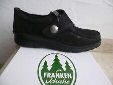 frankenschuhe donna mocassini scarpe basse, Sneakers, Nero Pelle NUOVO
