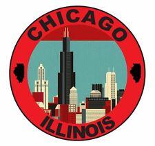 Chicago Illinois Sticker Decal R1080