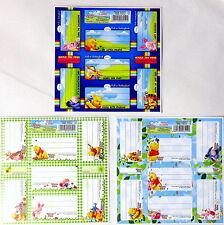 Winnie The Pooh Exercise Book Stickers, Notebook Stickers. Naklejki na zeszyty