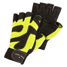Fitnesshandschuhe Trainingshandschuhe Leder schwarz/neongelb Größe S-XXL NEU