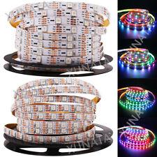 5V 5m WS2812B 150/300 LED RGB Streifen Licht Lampe Tape IP65 Wasserdicht