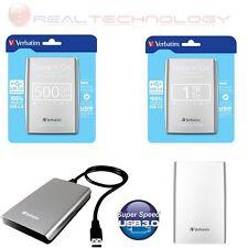 "HARD DISK ESTERNO 2,5"" 500GB-1TB VERBATIM USB 2.0/3.0 AUTOALIMENTATO GRIGIO"