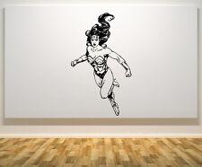 Wonder Woman LIGA DE LA JUSTICIA superhéroe adhesivo para dormitorio pared