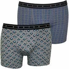 Scotch & Soda 2-Pack Geometric Print Men's Boxer Briefs Gift Set, Grey/Blue