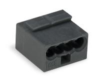 MICRO-Verbindungsdosenklemme Wago 243-204 dunkelgrau 4-Leiter-Klemme