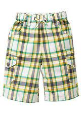 BPC Kinder Longbermuda 3/4 Bermuda Shorts Hose Karo Polyester weiß Gr. 912923