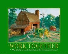 John Deere Tractor Motivational Poster Art Ertl Toys Sign Charles Freitag MVP22