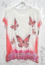 Summer Womens Short Sleeve Butterfly T-shirt Tops Blouse