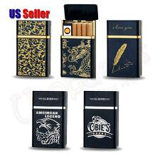 Clgarette Case Holder w/ Built-in USB Rechargeable Electronic Lighter |US Seller