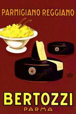 Parmigiano Reggiano Bertozzi Italy Cheese Vintage Poster Repo FREE SHIP in USA