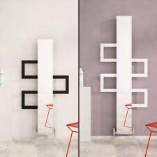 """Carisa """"Mate"""" White & Black Aluminium Designer Vertical Mirror Radiators 3 Sizes"""