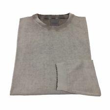 CA' VAGAN suéter de cuello redondo para hombre gris impreso 100 % algodón