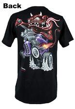 Zombie Hot Rod Custom Rat Rod MONSTER PURPLE COUPE v8 US Car T-Shirt Nuovo