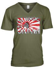 I'm Huge In Japan Big Popular Japanese Flag Penis Size Tall Men's V-Neck T-Shirt