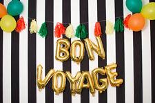 Bon Voyage 16 in (approx. 40.64 cm) Rosa Oro Plata dejando carta globos fiesta de jubilación