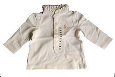 Ralph Lauren Baby Girls' Ruffled Long-Sleeved Polo Shirt Trophy Cream 3 Months